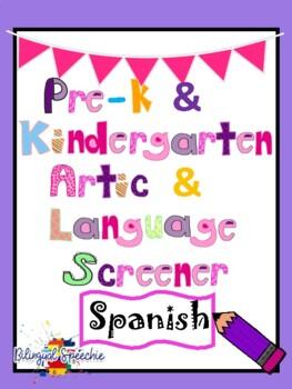 Preschool and Kindergarten Language and Articulation Scree