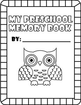 Preschool or Pre-K Memory Book