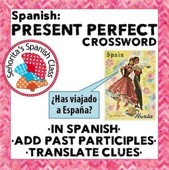 Spanish - Present Perfect Crossword