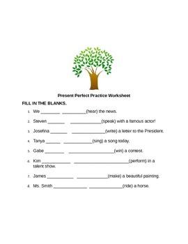 Present Perfect Practice Worksheet
