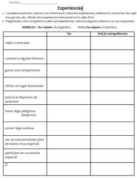 Present Perfecto Bingo & Partner Activity / Actividades de