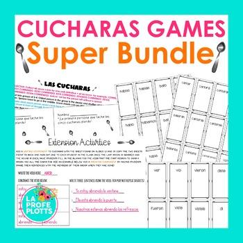 Present, Preterite, Imperfect, & Future ¡Cucharas! Games S