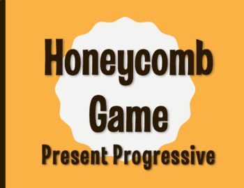 Spanish Present Progressive Honeycomb Partner Game