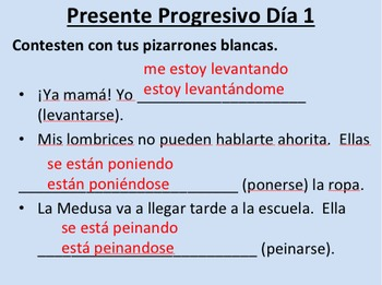Present Progressive--Pack (initial presentation and error