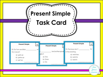 Present Simple Task Cards