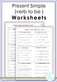 Present Simple ( verb to be ) Worksheets