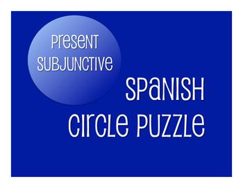 Spanish Present Subjunctive Circle Puzzle
