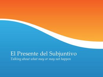 Present Subjunctive Formation Notes Presentation