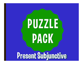 Spanish Present Subjunctive Puzzle Pack