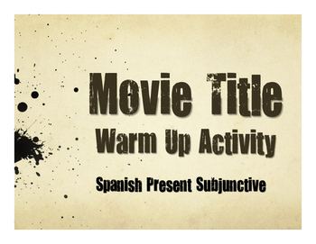 Spanish Present Subjunctive With Conjunctions Movie Titles
