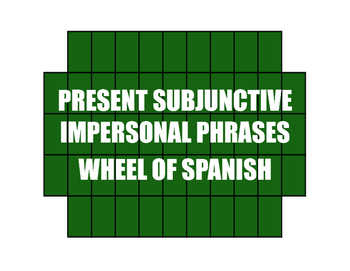Spanish Present Subjunctive With Impersonal Phrases Wheel