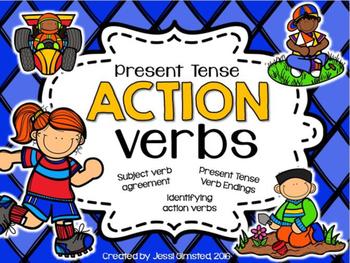 Present Tense Action Verbs Presentation
