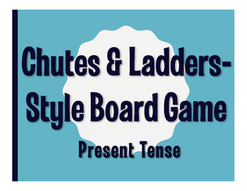 Spanish Present Tense Chutes and Ladders-Style Game