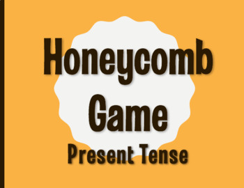 Spanish Present Tense Honeycomb Partner Game