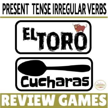 Review Games for Present Tense Irregulars- ser, tener, ir,