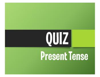Spanish Present Tense Quiz