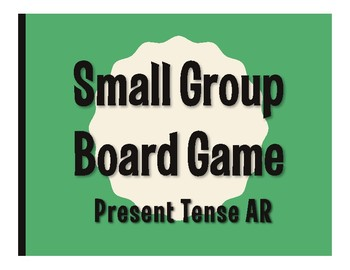 Spanish Present Tense Regular AR Board Game