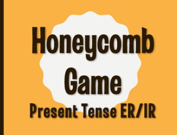 Spanish Present Tense Regular ER and IR Honeycomb Partner Game