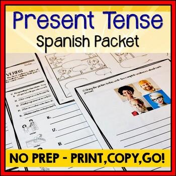 Present Tense Spanish Verbs Review Bundle