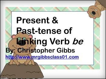 Present and Past-tense of word Verb be Literacy Centers Tr