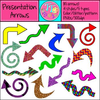 Presentation Arrows Clip Art CU OK