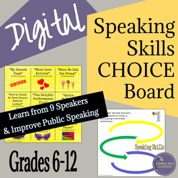 Presentation Skills Choice Board for Middle School and Hig