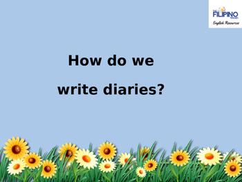 Presentation on How to Write Diaries