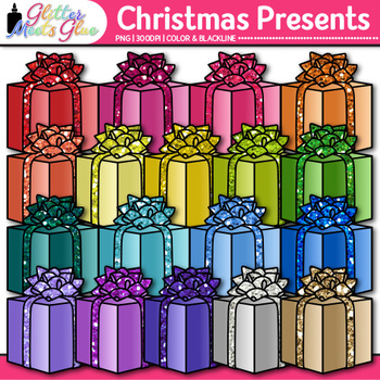 Christmas and Birthday Presents Clip Art - Gift Boxes Clip Art