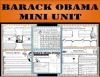 President Barack Obama: Mini Unit & Craftivity