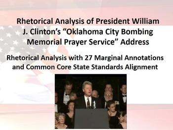 President Bill Clinton's Oklahoma City Memorial Speech Rhe