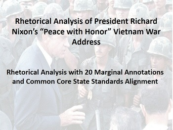 "President Nixon's ""Peace with Honor"" Vietnam War Address R"