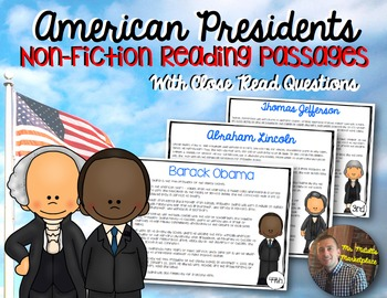 President Non-Fiction Reading Passages: A Comprehension by