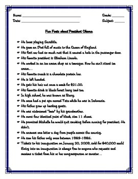 President Obama Interesting and Funny Facts