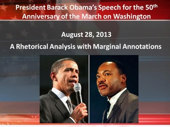 President Obama's 50th Anniversary of the March on Washing