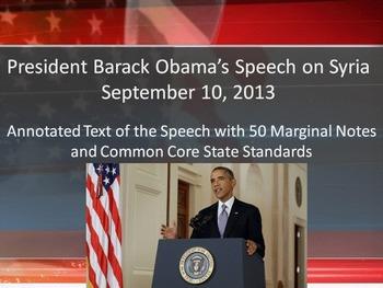 President Obama's Syria Speech - Common Core Rhetorical An