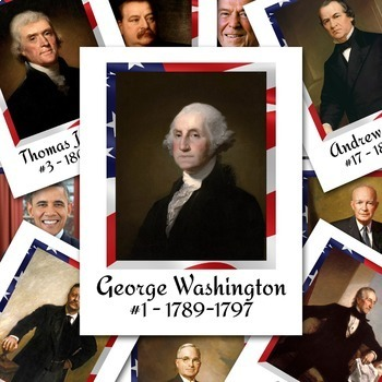 President Posters - Includes all 44 Presidents