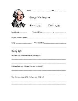 President  Research Activity (George Washington - James Polk)