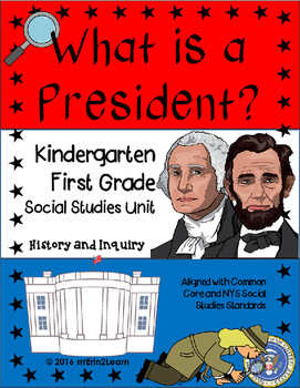 Presidents Unit Kindergarten First grade President's Day