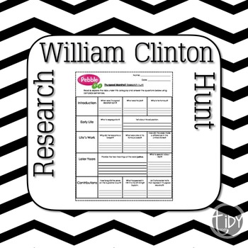 President William Clinton Research Hunt