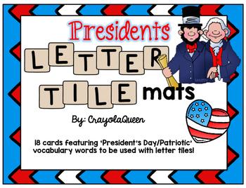 President's Day Letter Tile Mats