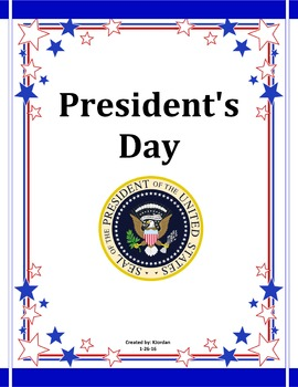 President's Day Packet or Election Day