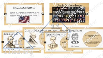 President's Day Power Point Presentation (Spanish)