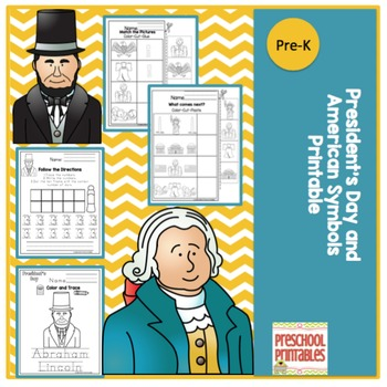 President's Day and American Symbols Printable