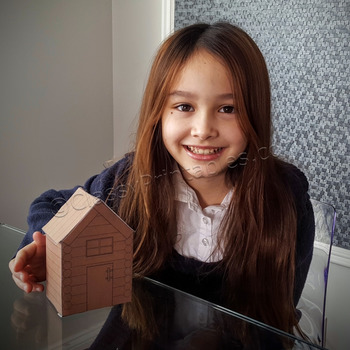 President's Day make your own log cabin craft activity FRE