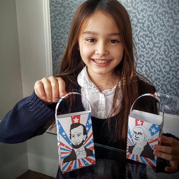 President's Day make your own paper treat bag craft activity