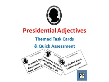 Presidential Adjectives - US President Themed Adjective Ta