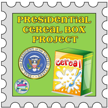 Presidential Cereal Box Project for any President