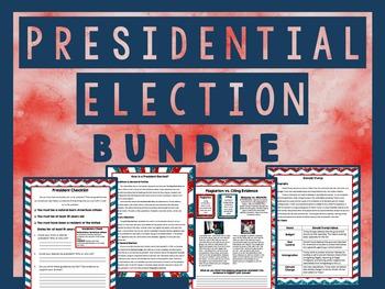 Presidential Election 2016 BUNDLE - Language Arts Activities