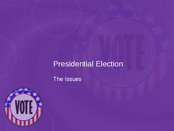 Presidential Election Issues