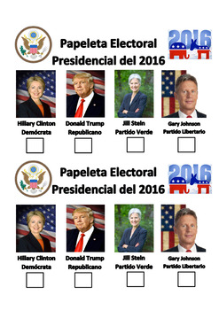 Presidential Election Unit in Spanish